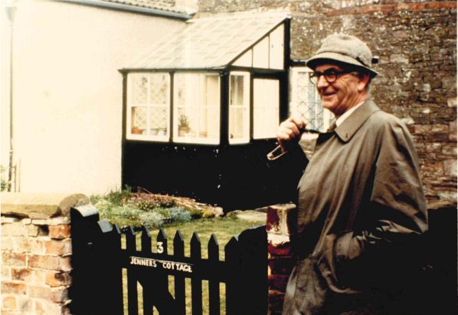 Rodney Porter outside Jenner's Cottage