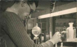 Rodney Porter in the laboratory