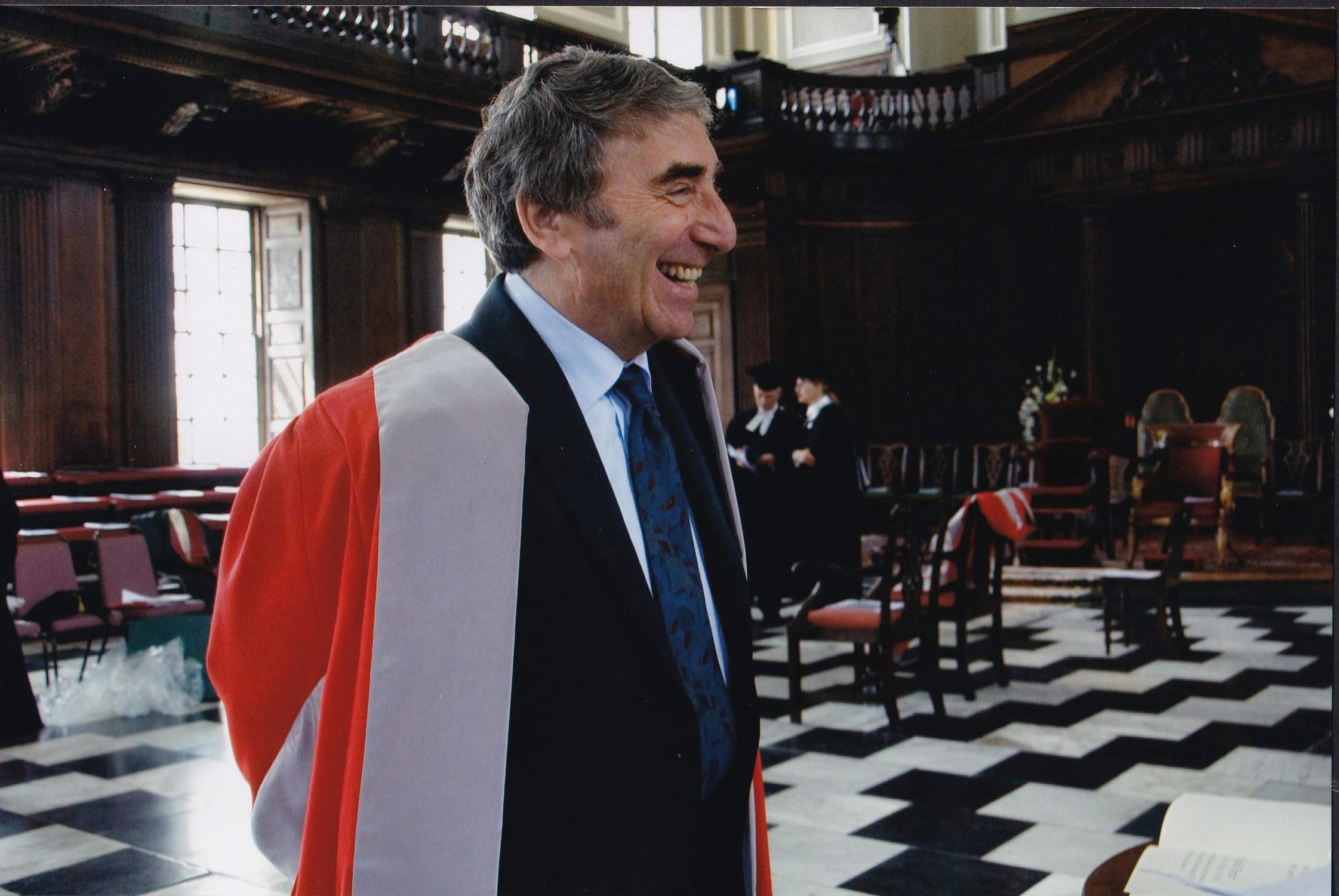 Photograph of Herman Waldmann getting his honorary doctorate at Cambridge University, 2009