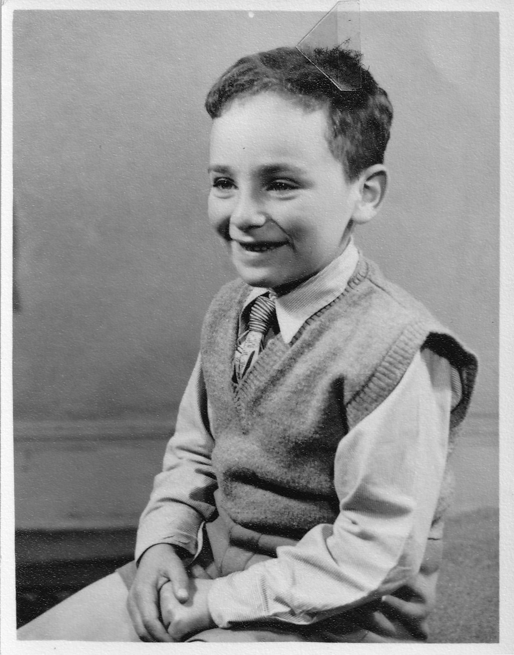 Photograph of Herman Waldmann aged seven years old